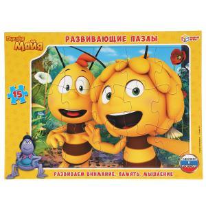 Пчелка Майя. Пазлы в рамке (15 дет.) Умные игры в кор.50шт