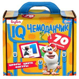 Буба. Цифры, цвета, фигуры. IQ чемоданчик. 35 карточек в чемоданчике Умные игры в кор.12шт