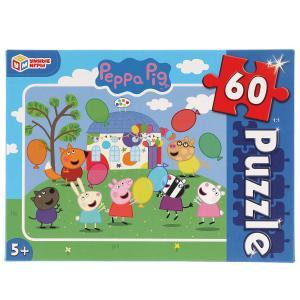 Свинка Пеппа. Пазлы классические в коробке. Пазл 60 деталей. Умные игры в кор.24шт