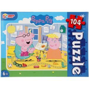 Свинка Пеппа. Пазлы классические в коробке. Пазл 104 детали. Умные игры в кор.24шт