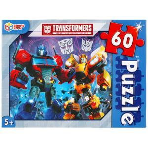 Трансформеры. Пазлы классические в коробке. Пазл 60 деталей. Умные игры в кор.24шт