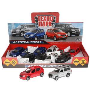 Машина металл автотранспорт, 12 см.,дв.,баг.,инерц.,в асс.,дисп. Технопарк уп-12шт в кор.2*4уп