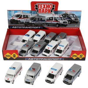 Машина металл ГАЗЕЛЬ next/ford transit, 12см.,дв.,баг.,инер, асс. дисп. Технопарк уп-12шт в кор2*4уп