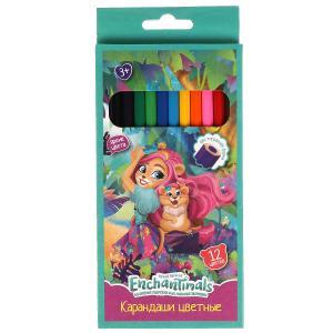 Цветные карандаши ЭНЧЕНТИМАЛС 12цв, шестигран Умка в кор.20*12шт