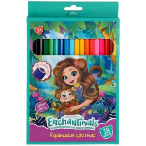 Цветные карандаши ЭНЧЕНТИМАЛС 18цв, шестигран Умка в кор.20*8шт