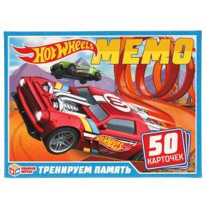 Хот вилс.Карточная игра Мемо. 50 карточек 65х95мм. Коробка: 125х170х40мм. Умные игры в кор.50шт