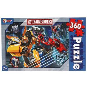Трансформеры.  Пазлы классические в коробке. Пазл 360 деталей. Умные игры в кор.24шт