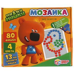 Ми-Ми-Мишки. Мозаика пластиковая. 80 фишек. 4 цвета. Поле 195х155мм. В кор. Умные игры в кор.18шт