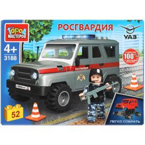 UAZ конструктор uaz HUNTER росгвардия, 52 дет. Город мастеров в кор.80шт