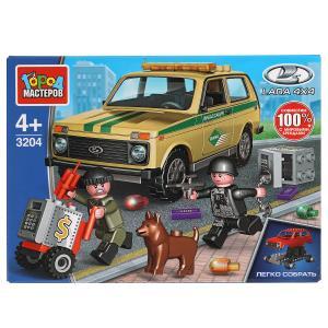 LADA конструктор lada 4x4: ограбление инкассаторской МАШИНЫ, 85 дет. Город мастеров в кор.80шт