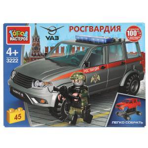 Конструктор uaz patriot РОСГВАРДИЯ, 45 дет. (легко собрать) Город мастеров в кор.80шт