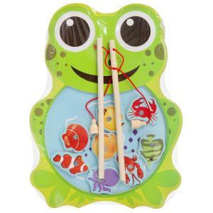 Игрушка деревянная рыбалка лягушка Буратино в кор.100шт