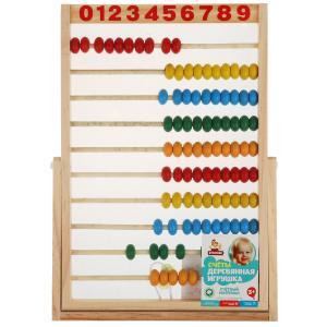 Игрушка деревянная счеты 30*20 Буратино в кор.100шт