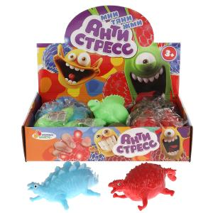 """Игрушка жмяка """"динозавры 3 вида"""" 4 цвета с мукой, в дисплее ИГРАЕМ ВМЕСТЕ уп-12шт в кор.12уп"""