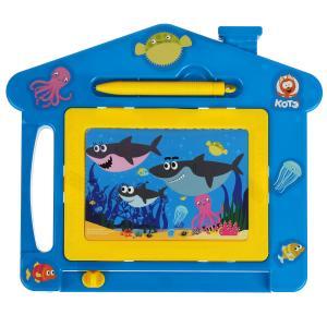 Доска для рисования КОТЕ ТВ акуленок магнитная, ч/б, 22*19см ИГРАЕМ ВМЕСТЕ в кор.2*96шт