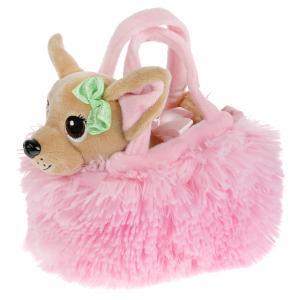 Мягкая игрушка 15см щенок в модной сумочке , в пак МОЙ ПИТОМЕЦ в кор.24шт