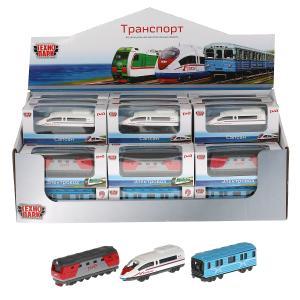 Модель металл метро/поезд/локомотив 7,5 см в ассорт., кор. Технопарк уп-36шт в кор.2*4уп