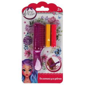 Косметика для девочек мелки для волос, блист МИЛАЯ ЛЕДИ в кор.2*180шт