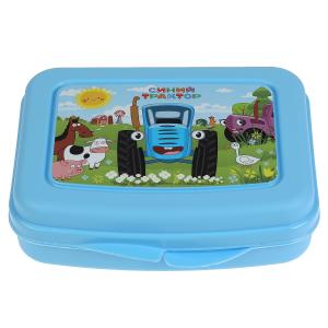Контейнер для бутербродов, Синий ТРАКТОР пластик, 280 мл Умка в кор.25шт
