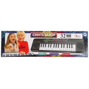 """Пианино """"электронный синтезатор"""" 32 клавиши, кор.48*13,6*3,6см ИГРАЕМ ВМЕСТЕ в кор.2*30шт"""
