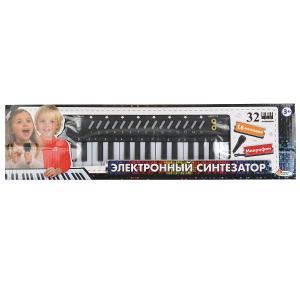 """Пианино """"электронный синтезатор"""" 32 клавиши, микрофон, кор.47,3*12,5*4см ИГРАЕМ ВМЕСТЕ в кор.48шт"""