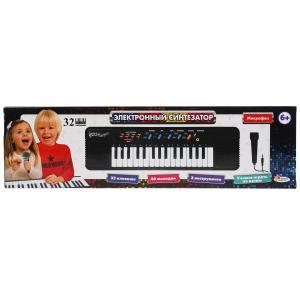 """Пианино """"электронный синтезатор"""" 32 клавиши, микрофон, кор.50*14*3,5см ИГРАЕМ ВМЕСТЕ в кор.2*24шт"""