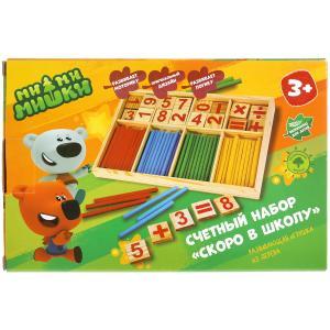 Игрушка деревянная Ми-ми-мишки счетный набор Буратино в кор.120шт