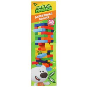 Настольная игра девевянная башня Ми-ми-мишки кор.8,5*27*8,5см Умные игры в кор.50шт