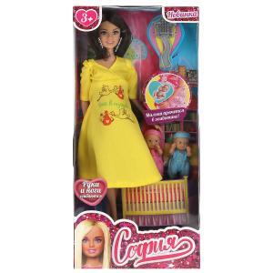 Кукла 29 см София беременная, руки и ноги сгибаются, в комплекте акс и близнецы КАРАПУЗ в кор.24шт