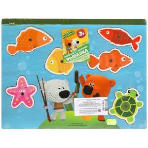 Игрушка деревянная Ми-ми-мишки рыбалка на пруду Буратино в кор.100шт