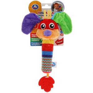 Текстильная игрушка погремушка собака пищалка функционал Умка в кор.250шт