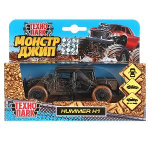 Машина металл HUMMER h1 ПИКАП с грязью, 12 см, дв., баг., инерц., кор. Технопарк в кор.2*24шт