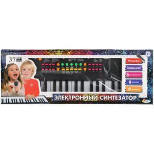"""Пианино """"электронный синтезатор"""" 37 клавишиш, микрофон,кор.46,5*16,5*6см ИГРАЕМ ВМЕСТЕ в кор.36шт"""