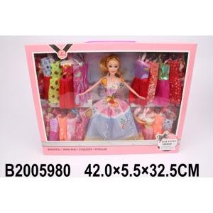 Кукла 29см с набором одежды, в ассорт. 714 в кор. в кор.2*18шт