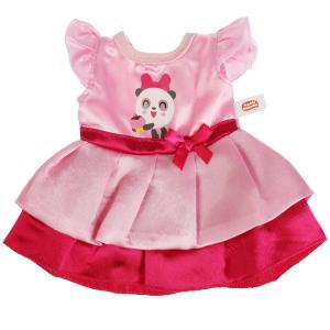 Одежда для кукол и пупсов 40-42 см МАЛЫШАРИКИ платье с принтом панда, пакет КАРАПУЗ в кор.100шт