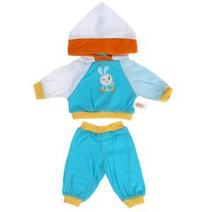 Одежда для кукол и пупсов 40-42 см МАЛЫШАРИКИ спорт.костюм принт.крошик,пакет КАРАПУЗ в кор.100шт