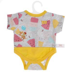 Одежда для кукол и пупсов 40-42 см Зебра в клеточку боди с принтом зебра КАРАПУЗ в кор.100шт