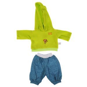 Одежда для кукол и пупсов 40-42 см Зебра в клеточку костюм с принт зебра,пакет КАРАПУЗ в кор.100шт