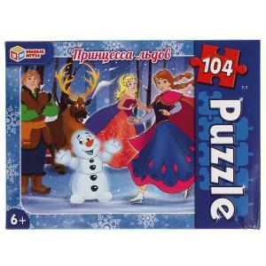Принцесса льдов. Пазлы классические в коробке. Пазл 104 детали. Умные игры в кор.24шт