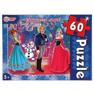 Принцесса льдов. Пазлы классические в коробке. Пазл 60 деталей. Умные игры в кор.24шт