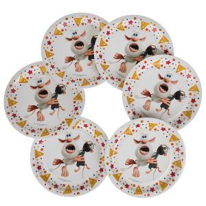 Тарелки бумажные БУБА 6 шт, 23 см, Товары для праздника в кор.72наб