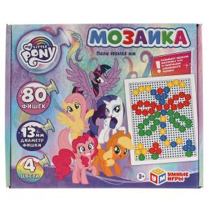 Мой маленький пони. Мозаика пластиковая 80 фишек прямоугольная, 4 цвета. Умные игры в кор.18шт