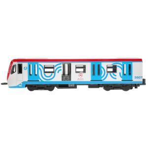 Модель металл ВАГОН МЕТРО 18,5 см, двери, инерц, бел, кор. Технопарк в кор.2*24шт